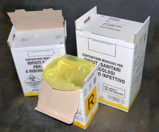 Disposable cardboard containers, 60L